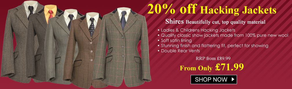 SALE Shires Hacking Jackets