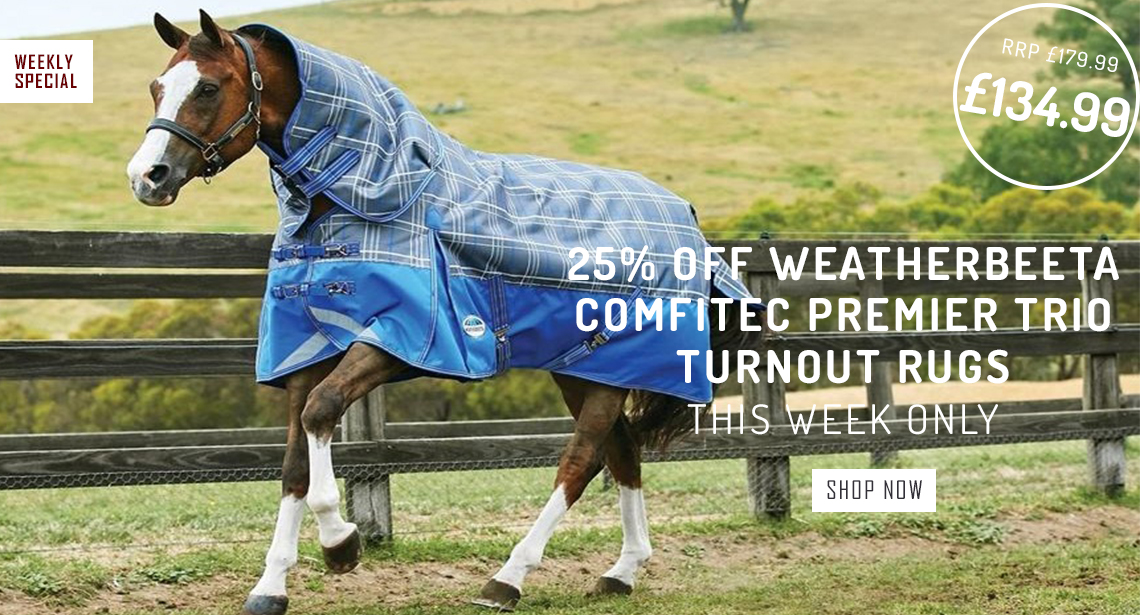 Weatherbeeta Comfitec Premier Trio Turnout rugs 25% off