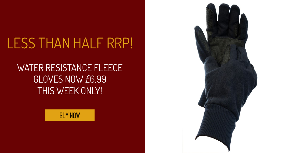 Water Resistant Fleece Gloves, Now £6.99 This Week Only!