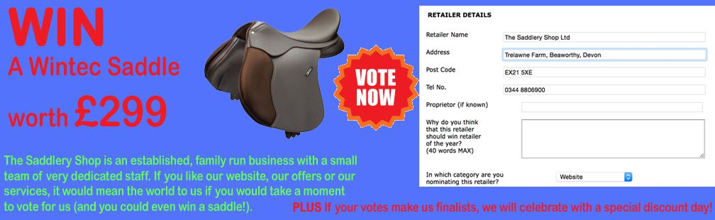 Nominate us for retailer of the year and WIN a saddle!