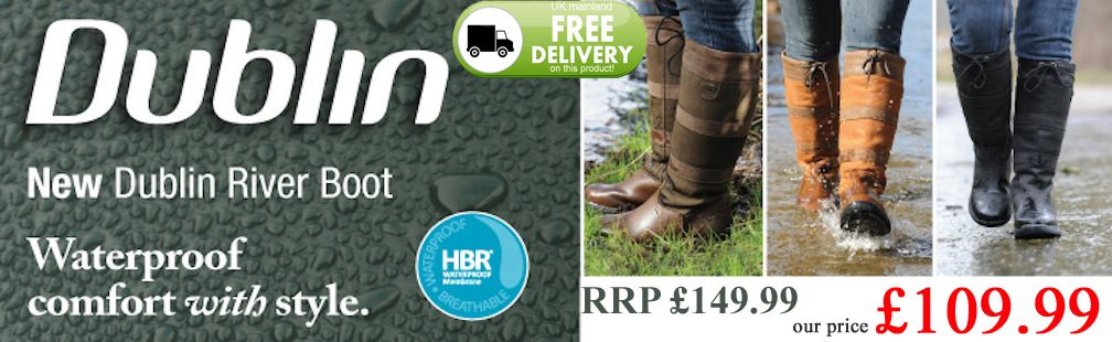 River boots on offer