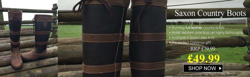 Saxon Country leather boots on sale