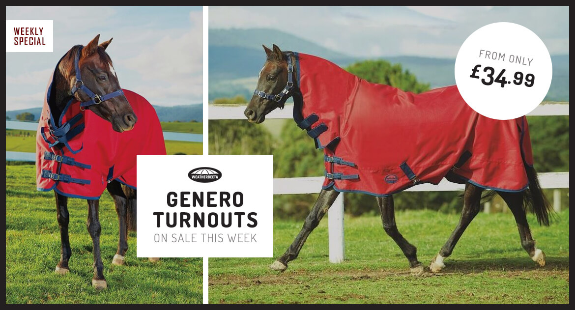 Weatherbeeta Genero Turnouts On Sale This Week from only £34.99!