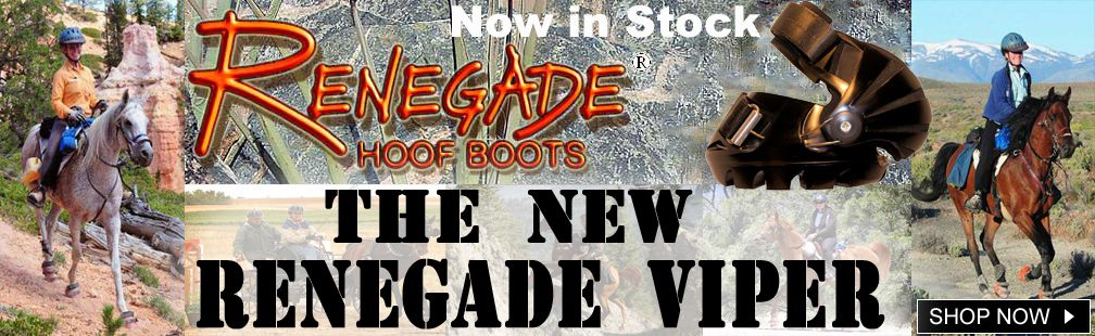 Renegade viper hoof boots in stock on sale