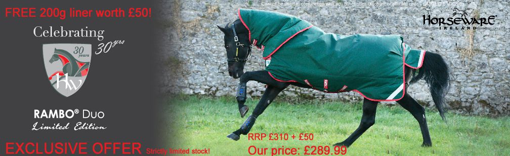 30 anniversary ltd edition Horseware Duo with FREE liner