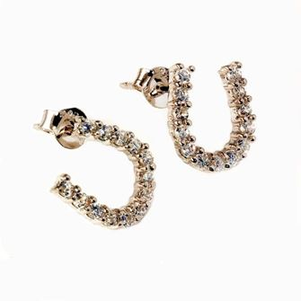 Falabella Sterling Silver Horse Shoe Stud Earrings with Presentation Box ER12