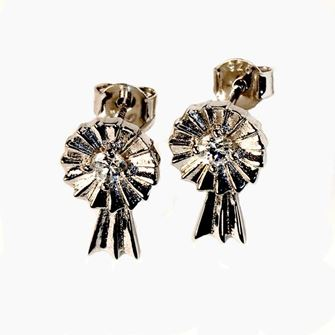 Falabella Sterling Large Rosette Stud Earrings with Presentation Box ER09