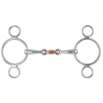 Shires 2 Ring (3 Ring) Copper Lozenge (Dutch) Gag