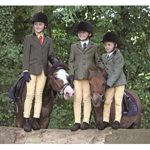 Shires Children's Huntingdon Show jacket (Green Herringbone)