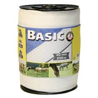 Basic Fencing Tape 200m X 40mm (White)