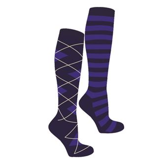 Mark Todd Argyle & Stripe Twin Socks