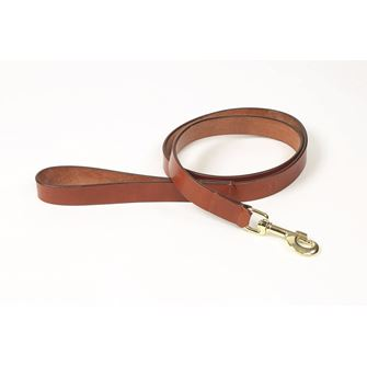 Shires Digby & Fox Flat Leather Dog Lead - Small