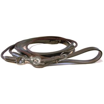 Mark Todd Leather and Rope Draw Reins with Elastic