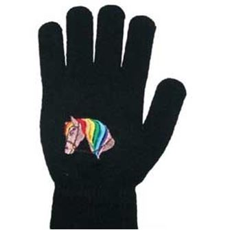Childrens Horse Head Pattern Magic Riding Gloves