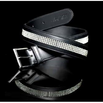 Mark Todd Diamante Leather Belt - Plain Leather