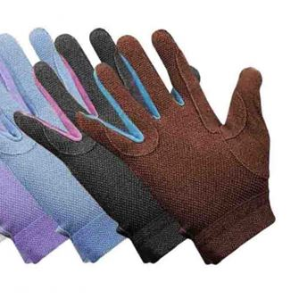 Saddlecraft Gripfast Childrens Cotton Riding Gloves