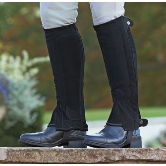 Shires Children's Synthetic Nubuck Half Chaps