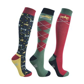 HyFASHION Polo Socks (Pack of 3)