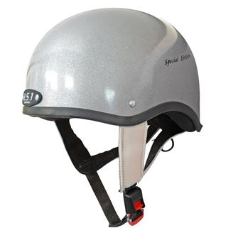 Gatehouse HS1 Jockey Skull Silver (Sizes 1.5 - 4.5) + FREE Hat Bag