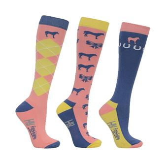 HyFASHION Newmarket Horse Print Socks (Pack of 3)