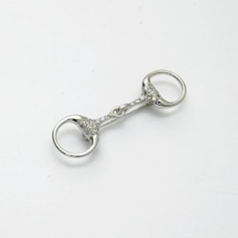 Falabella Sterling Silver Snaffle Stock Pin/ Brooch with Presentation Box SP16