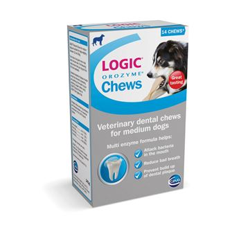 Logic Orozyme Chews 14 Chews - Medium Dog