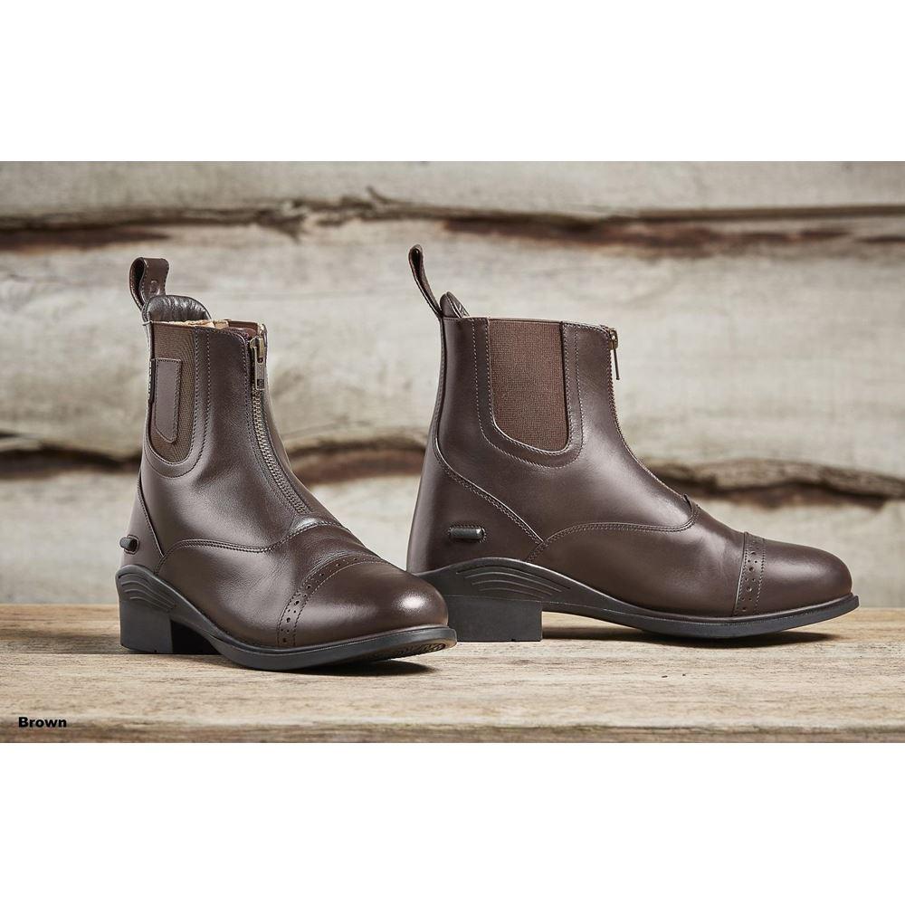 Dublin Evolution Zip Front Paddock Boots Brown Ladies 6.5
