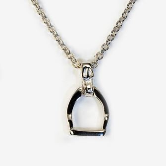 Falabella Sterling Silver Stirrup Pendant with Presentation Box PD12