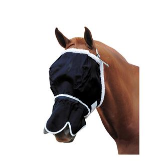 Roma Buzz Away Fly Mask With Fleece & Nose