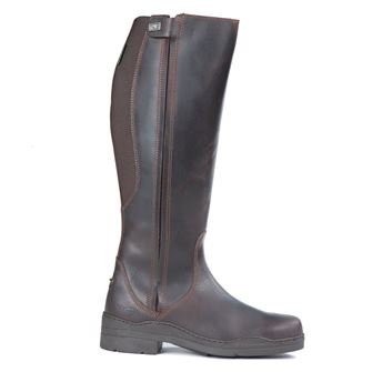 Tuffa Broadland Plus Size Long Leather Riding Boots Brown