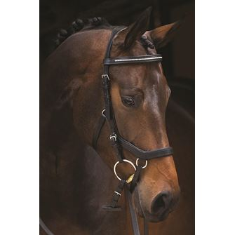 Rambo Micklem Diamante Competition Bridle (No reins)