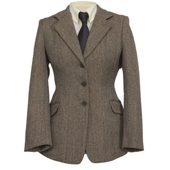 Shires Children's Huntingdon Show Jacket (Beige/Green Tweed)