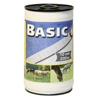 Basic Fencing Tape 200m X 10mm (White)