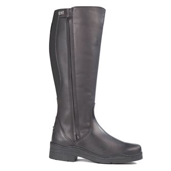 Tuffa Broadland Plus Size Long Leather Riding Boots Black
