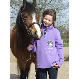 Bang on the Door Girls Purple Horsehead 'Winner' Embroidered Fleece