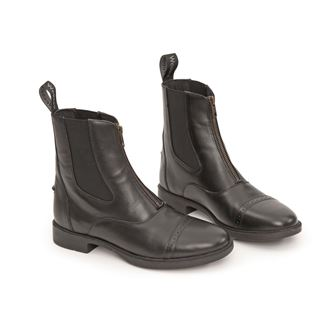Shires Children's Wessex Leather Paddock Boot - Black Size 28