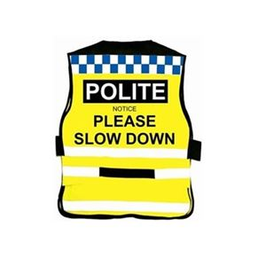 Equisafety Polite Air Road Safety Fluorescent Waistcoat