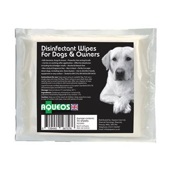 Aqueos Canine Disinfectant Wipes 35 wipes