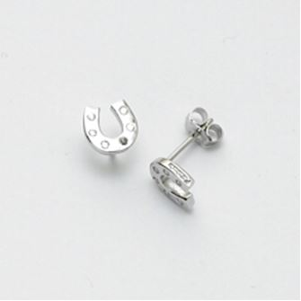 Falabella Sterling Silver Horse Shoe Earrings with Presentation Box ER24
