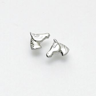 Falabella Sterling Silver Horse Head Stud Earrings with Presentation Box ER29