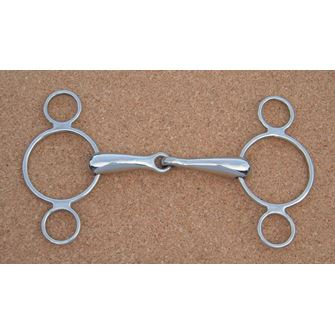 3 Ring Continental Jointed Snaffle