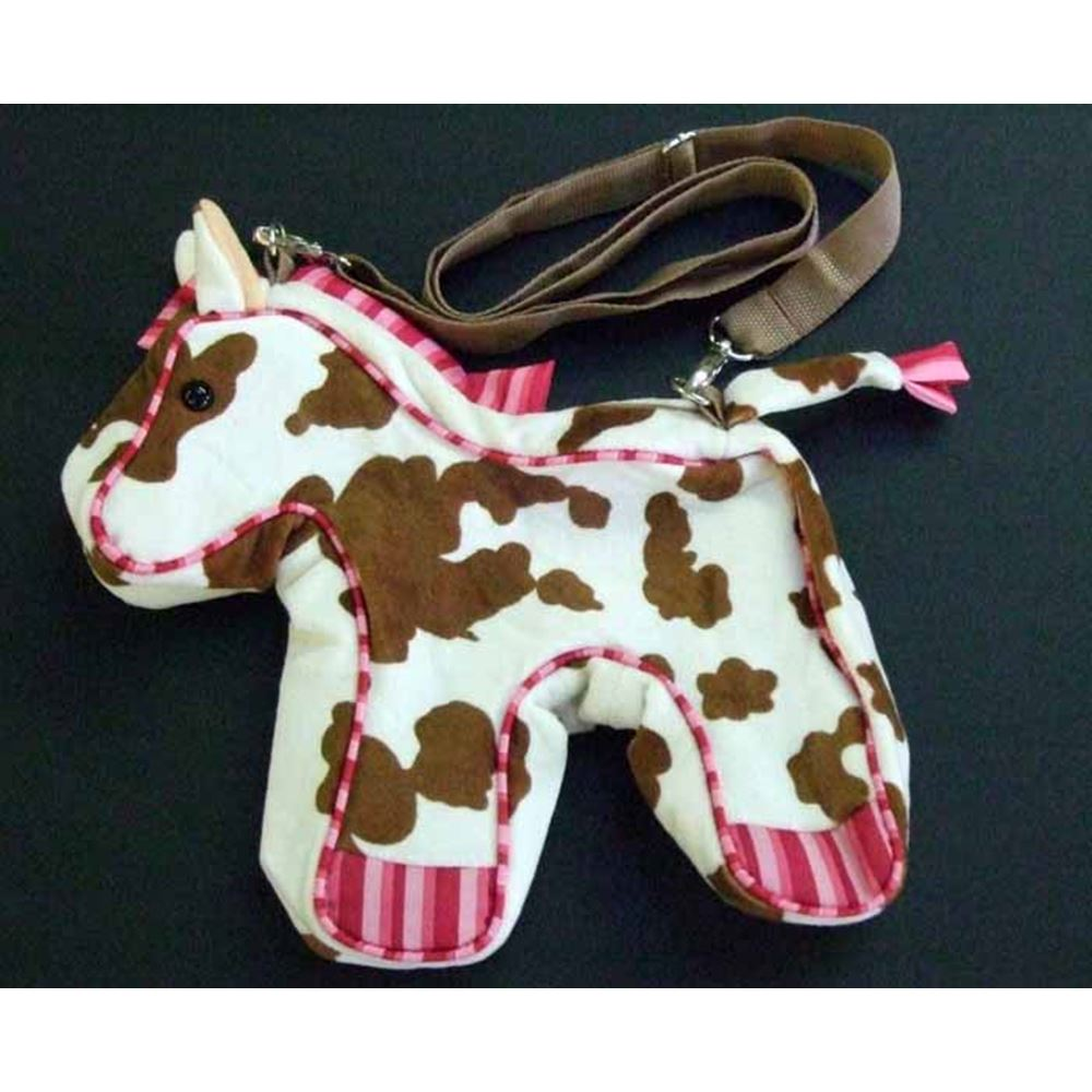 Brown and White Horse Shaped Bag