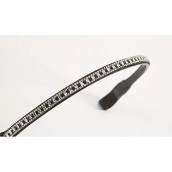 Shires Aviemore Fine Square Diamante Browband