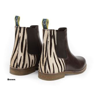 Shires Moretta Zebra Leather Chelsea Boots
