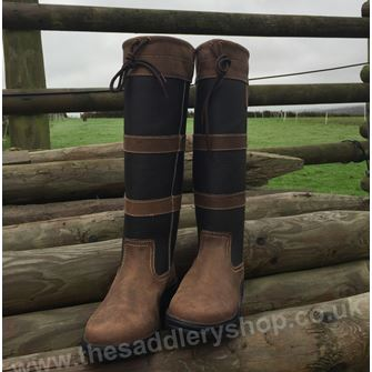 Saxon Tall Leather Country Boots