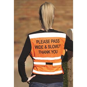 Equisafety Please Pass Air Road Safety Fluorescent Waistcoat