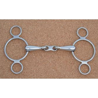 3 Ring Continental French Link Snaffle