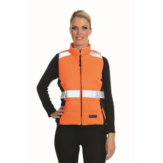 Equisafety Quilted High Visibility Equestrian Waistcoat