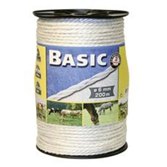 Basic Fencing Rope C/w S/steel Wires (White)