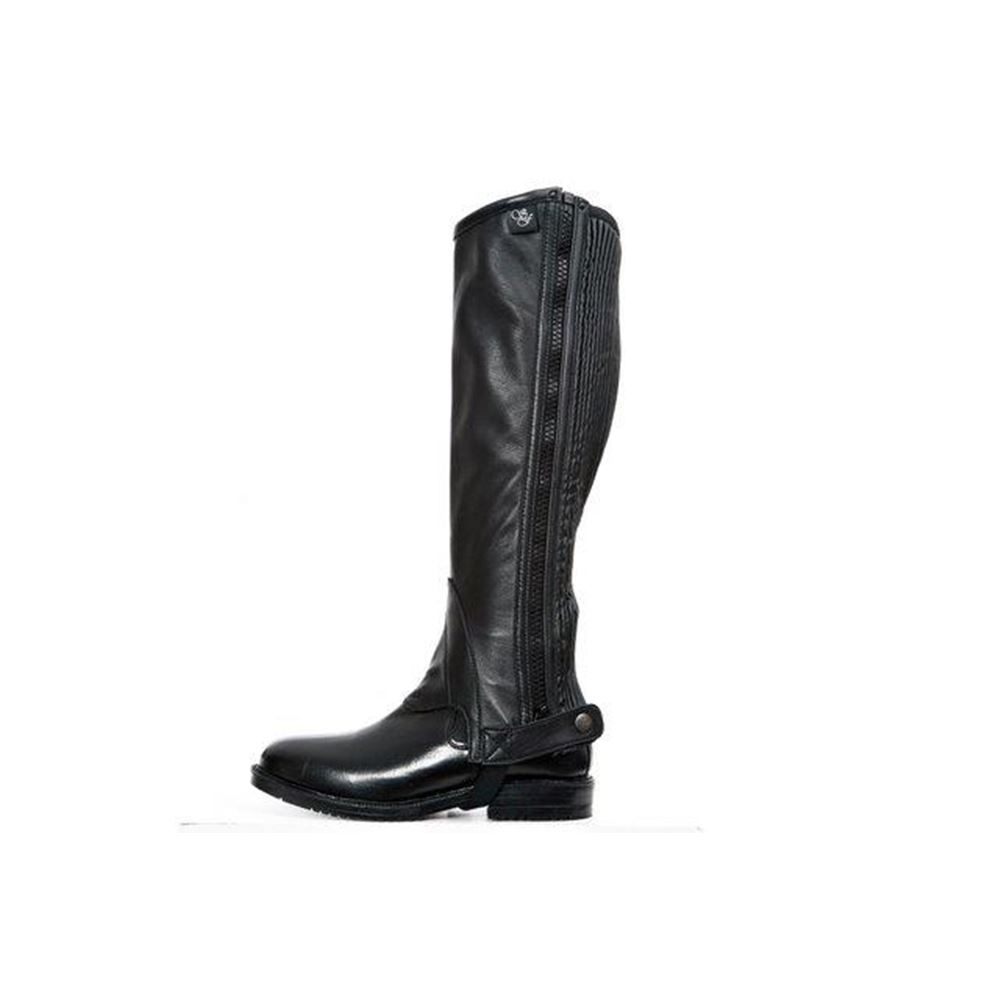Sherwood Forest Arena Black Leather Half Chaps